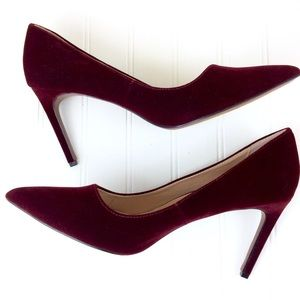 NWOT WhoWhatWear pointed toe velvet stiletto pumps